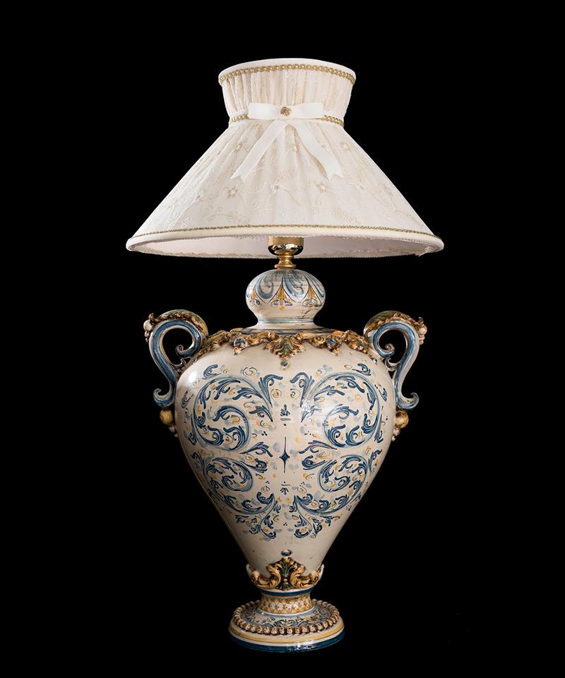 Lampadari In Ceramica Di Caltagirone.Lampade E Lampadari Lampada Grande Caltagirone